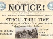 ~Stroll Thru Time~ Museum Walking Tour Celebrating 150 years of Tahoe City History ~ August 30th
