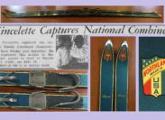 Actual 1960 Jumping Skis! ~ A wonderful donation by Laura (Vincelette) Brewer, Al Vincelette, and Linda Vincelette Sehidoglu and their families