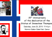 Coming Soon ~ Snowshoe Thompson Event!